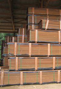 high stacks of ipe lumber