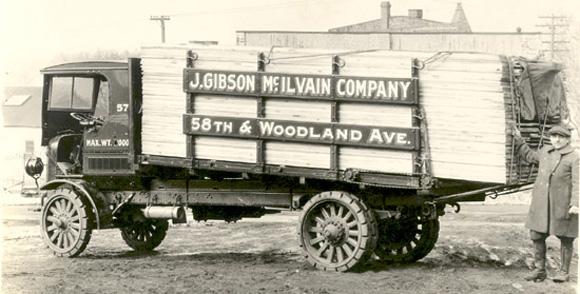 1925 j gibson mcilvain lumberyard truck