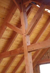 douglas fir supporting beams