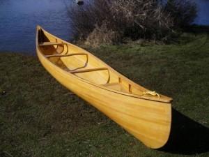 yellow cedar canoe
