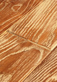 """Random-width Ash floor with a """"French Country"""" finish"""