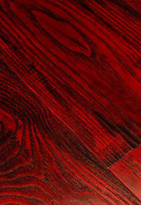 Clear grade Ash floor with a vibrant blast of rich color and texture added