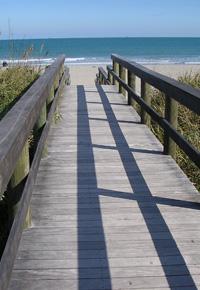 Ipe boardwalk at Cocoa Beach