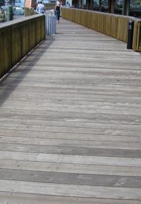 Ipe boardwalk at Johns Pass