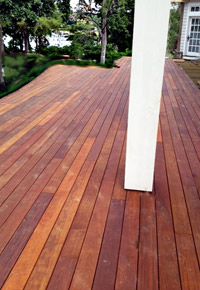 Deck made of Ipe wood