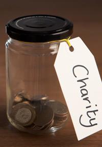 charity coin jar