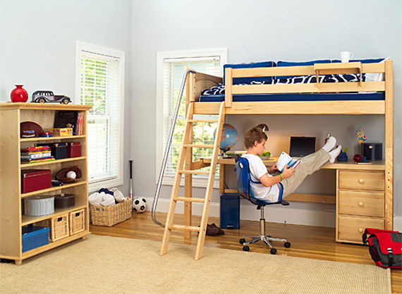 Best kids study loft beds part 2 for Study bed plans