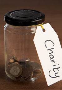coin jar for charity