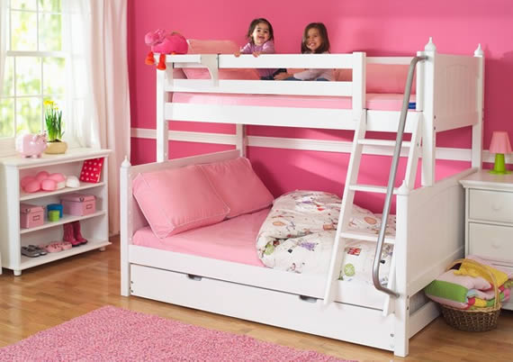 twin over full maxtrix bunk bed with underbed storage