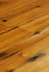 Rehmeyer Legacy Collection: Red Birch Foot Worn Flooring with Pegs