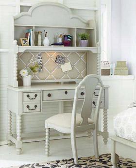 isabella vanity desk with hutch