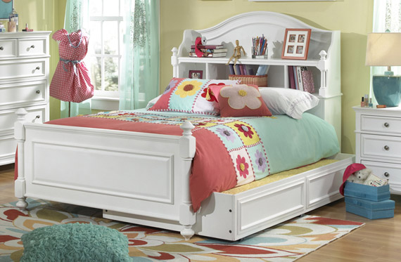 madison bookcase storage bed
