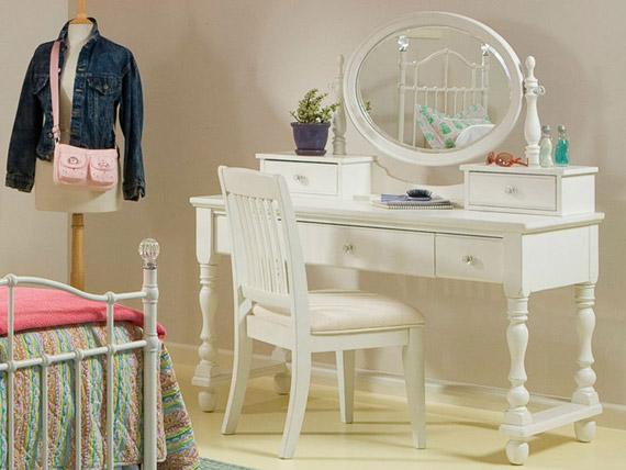olivia vanity desk with mirror