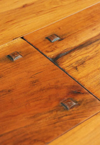 Rehmeyer Authentic Hand Scraped: Cherry Flooring with Wood Pegs