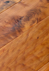 Rehmeyer Legacy Collection: Hand Scraped Rustic Cherry Flooring with Foot Worn Edges