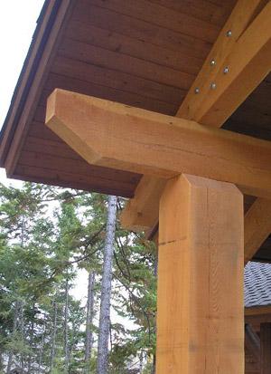 Douglas Fir timber joint