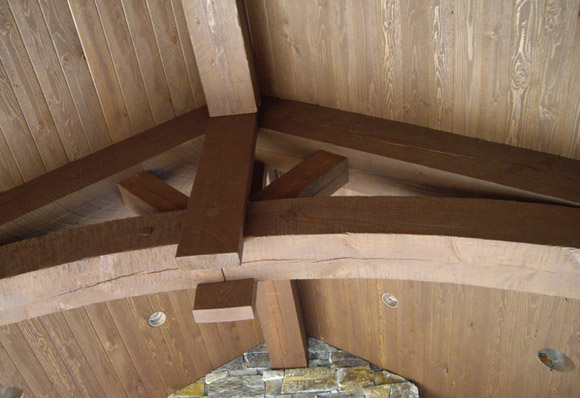 Douglas Fir timber truss roof