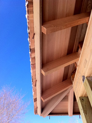 Western Red Cedar eaves