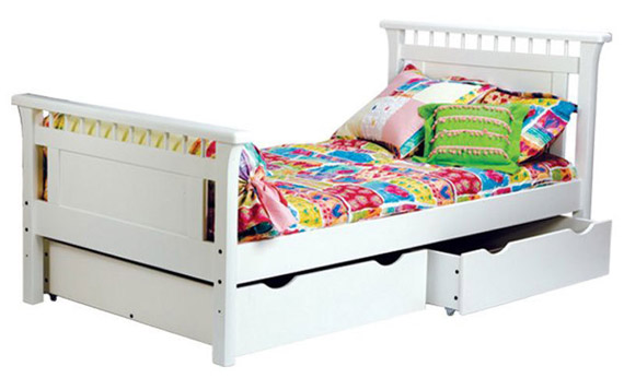 Bennington twin bed with optional underbed storage