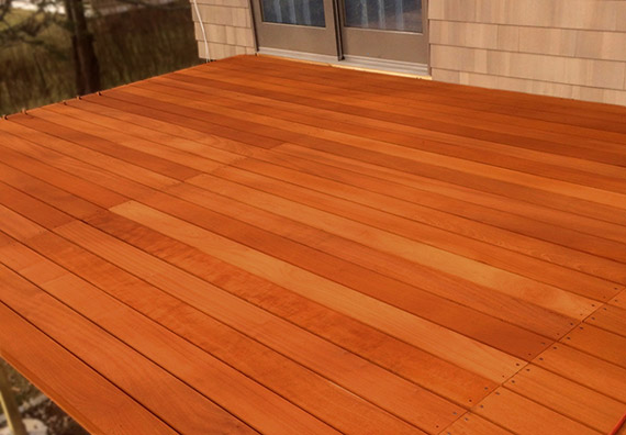 Deck made of Red Balau wood