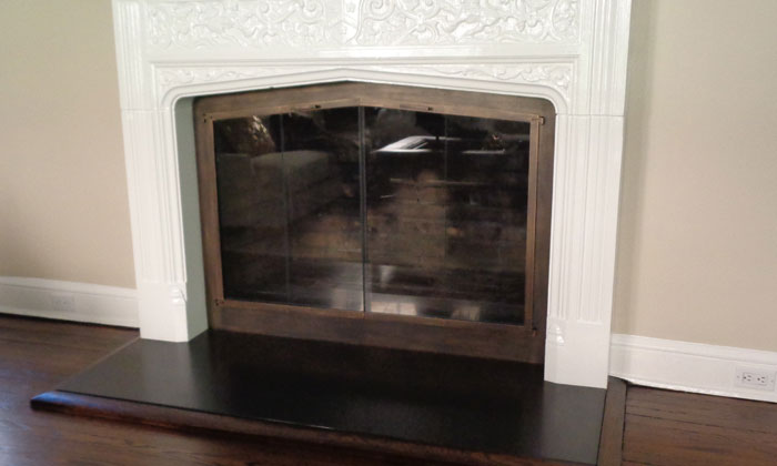 Fireplace Shallow Arch in Burnished Bronze