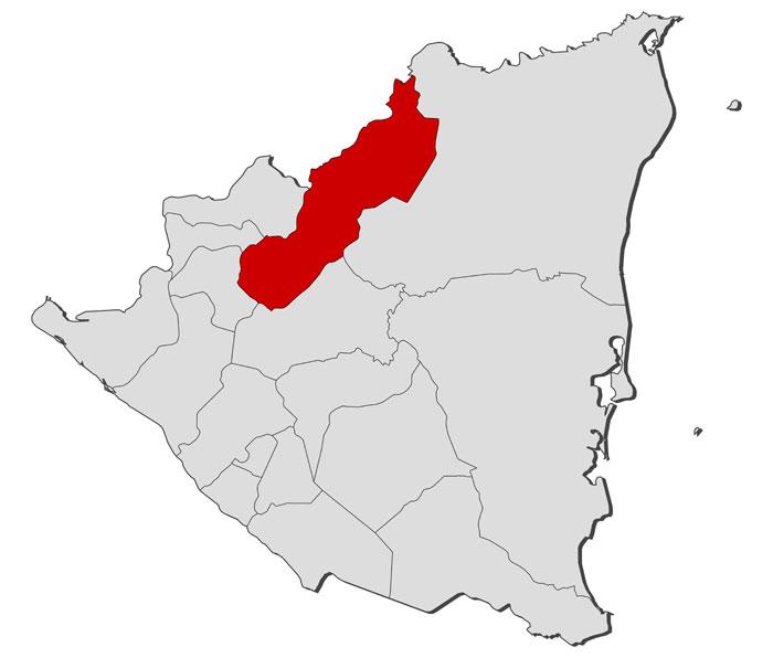 Jinotega region in Nicaragua