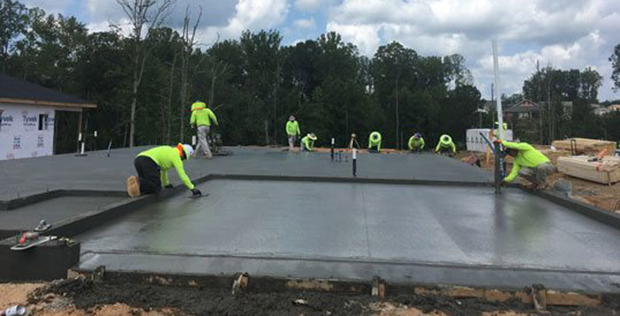 residential home concrete work