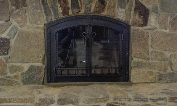 Fireplace Blacksmith Door