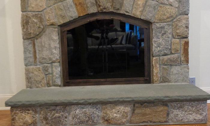 Fireplace Door Burnished Bronze Strap Handle