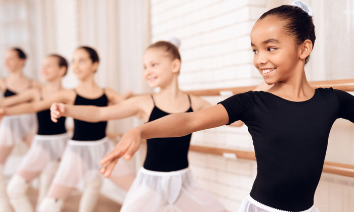 eager ambitious young ballet students