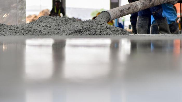 concrete floor pouring task