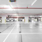 concrete flooring in parking garage