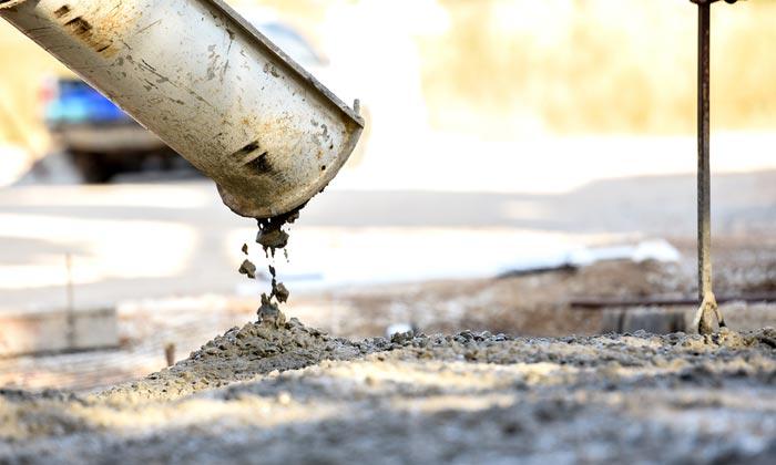 fresh concrete drips
