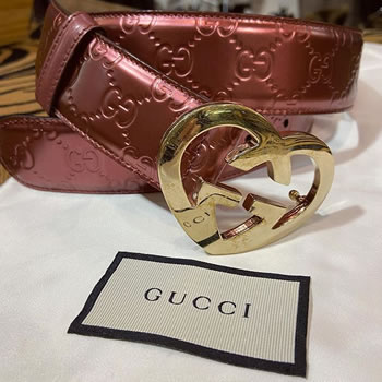 gucci gold heart belt