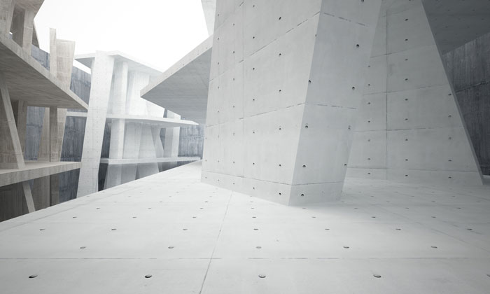 concrete forms and walls maze