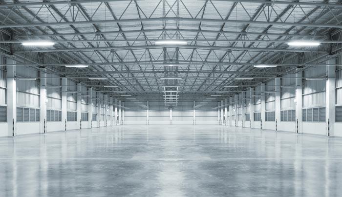 concrete sealer on warehouse floor